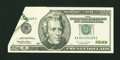 Error Notes:Foldovers, Fr. 2083-A $20 1996 Federal Reserve Note. Gem Crisp Uncirculated.....