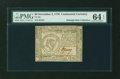 Colonial Notes:Continental Congress Issues, Continental Currency November 2, 1776 $8 PMG Choice Uncirculated 64 EPQ....