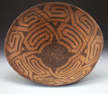 American Indian Art:Baskets, A LARGE PIMA COILED BOWL. c. 1885...