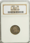 Bust Dimes: , 1832 10C MS61 NGC. NGC Census: (22/129). PCGS Population (5/107).Mintage: 522,500. Numismedia Wsl. Price for NGC/PCGS coin...