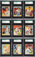 Baseball Cards:Lots, 1934-36 R327 Diamond Stars High SGC-Graded Group of (9)....