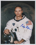 Autographs:Celebrities, Michael Collins Signed White Spacesuit Color Photo, Uninscribed....