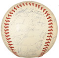 Autographs:Baseballs, 1941 New York Yankees Team Signed Baseball....