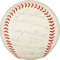 Autographs:Baseballs, 1939 National League All-Star Team Signed Baseball....