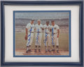 Autographs:Photos, Mantle, Mays, Snider and DiMaggio Multi-Signed Photograph....