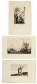 Antiques:Posters & Prints, Exceptional Group of Six Engraved Seaside and RiverIllustrations.... (Total: 6 Items)