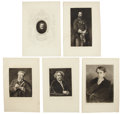 Antiques:Posters & Prints, Exceptional Group of Eleven Engraved Portraits of 19th CenturyMen.... (Total: 11 Items)