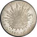 Mexico, Mexico: Republic Cap and Rays 8 Reales 1860 Ga-JG, Dot in Loop ofSnake's Tail,...
