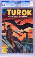 Golden Age (1938-1955):Miscellaneous, Four Color #656 Turok, Son of Stone - File Copy (Dell, 1955) CGC VF+ 8.5 Cream to off-white pages....