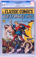 Golden Age (1938-1955):Classics Illustrated, Classic Comics #14 Westward Ho! Original Edition - File Copy(Gilberton, 1943) CGC FN 6.0 Off-white pages....