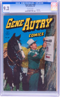Golden Age (1938-1955):Western, Four Color #100 Gene Autry Comics (Dell, 1946) CGC NM- 9.2Off-white pages....