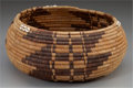 American Indian Art:Baskets, A POMO COILED BOWL. c. 1910...