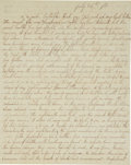 Autographs:Military Figures, Civil War: First Battle of Bull Run Confederate Soldier's Letter, complete but unsigned and written only four days after the...