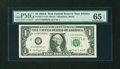 Error Notes:Ink Smears, Fr. 1917-F $1 1988A Federal Reserve Web Note. PMG Gem Uncirculated65 EPQ.. ...
