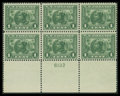 Stamps, 1c Green (397),...