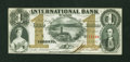 Canadian Currency: , Toronto, ON- International Bank of Canada $1 Sept. 15, 1858 Ch. #380-10-08-04. ...