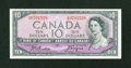Canadian Currency: , BC-32b $10 Devil's Face Portrait 1954. ...