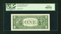 Error Notes:Third Printing on Reverse, Fr. 1913-D $1 1985 Federal Reserve Note. PCGS Gem New 66PPQ....