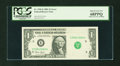 Error Notes:Obstruction Errors, Fr. 1926-E $1 2001 Federal Reserve Note. PCGS Superb Gem New68PPQ....