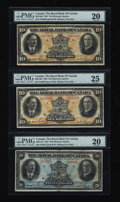 Canadian Currency: , Montreal, PQ- The Royal Bank of Canada $10 (2), $20 Jan. 3, 1927Ch. # 630-14-08 (2), 630-14-12. ... (Total: 3 notes)