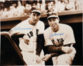 Autographs:Photos, Ted Williams and Joe DiMaggio Dual-Signed Photograph....
