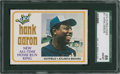 Baseball Cards:Singles (1970-Now), 1974 O-Pee-Chee Hank Aaron #1 SGC 88 NM/MT 8....