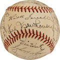 Autographs:Baseballs, Circa 1950 Multi-Signed Baseball from Elden Auker Collection. ...