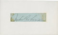 Autographs:Others, Jackie Robinson Signed Cut Signature. ...