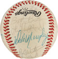 Autographs:Baseballs, 1983 Atlanta Braves Team Signed Baseball. ...