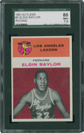 Basketball Cards:Singles (Pre-1970), 1961-62 Fleer Elgin Baylor #3 SGC 86 NM+ 7.5....