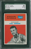 Basketball Cards:Singles (Pre-1970), 1961-62 Fleer Hal Greer #16 SGC 80 EX/NM 6....
