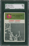 Basketball Cards:Singles (Pre-1970), 196-62 Fleer Jerry West IA #66 SGC 84 NM 7....