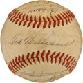 Autographs:Baseballs, 1946 Boston Red Sox Team Signed Baseball from Elden AukerCollection. ...