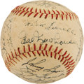 Autographs:Baseballs, 1952 Detroit Tigers Team Signed Baseball from Elden AukerCollection. ...