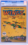 Golden Age (1938-1955):War, Wings Comics #4 (Fiction House, 1940) CGC VG 4.0 Cream to off-whitepages....