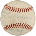 Autographs:Baseballs, 1955 Boston Red Sox Team Signed Baseball from Elden AukerCollection. ...