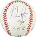Autographs:Baseballs, Nolan Ryan Signed Baseball With Inscription....