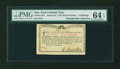 Colonial Notes:New York, New York January 6, 1776 (Water Works) 8s PMG Choice Uncirculated 64 EPQ....