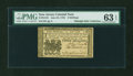 Colonial Notes:New Jersey, New Jersey June 22, 1756 3s PMG Choice Uncirculated 63 EPQ....