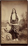 American Indian Art:Photographs, BLACK COAL. c. 1882...
