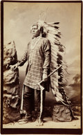 American Indian Art:Photographs, EAGLE PLUME. c. 1877...