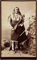 "American Indian Art:Photographs, ""BILLY, UTE WARRIOR"". c. 1882..."
