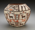 American Indian Art:Pottery, A ZUNI POLYCHROME JAR. Celecita Vincenti. c. 1960...
