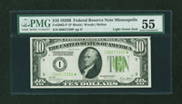 Fr. 2002-I* $10 1928B Federal Reserve Note. PMG About Uncirculated 55