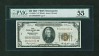 Fr. 1870-I* $20 1929 Federal Reserve Bank Note. PMG About Uncirculated 55