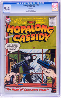 Hopalong Cassidy #118 (DC, 1956) CGC NM 9.4 White pages