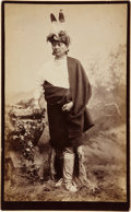 American Indian Art:Photographs, IOWA OR SAUK-FOX MAN. c. 1879...