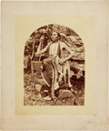 American Indian Art:Photographs, FEATHERED WOLF. c. 1875...