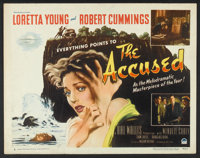 """The Accused (Paramount, 1949). Half Sheet (22"""" X 28"""") Style B. Mystery"""