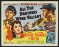 "Movie Posters:Adventure, All the Brothers Were Valiant (MGM, 1953). Half Sheet (22"" X 28"")Style A. Adventure.. ..."